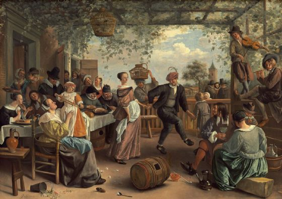 Steen, Jan: The Dancing Couple. Fine Art Print/Poster. Sizes: A4/A3/A2/A1 (004102)